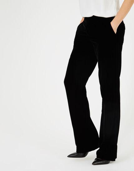 Pantalon noir en velours Kendal (1) - 1-2-3