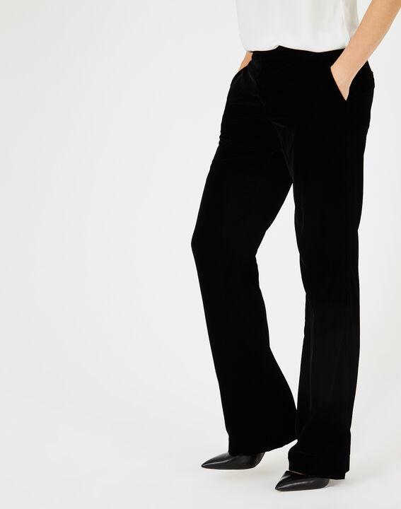 Pantalon noir en velours Kendal PhotoZ | 1-2-3