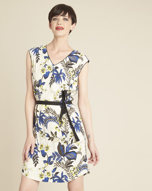 Perceneige floral print dress in beige (2) - 1-2-3