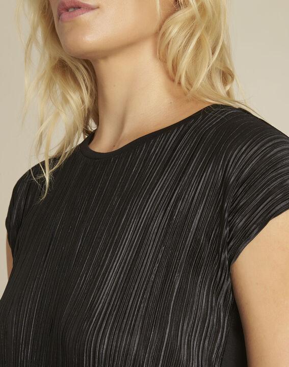 Zwart shirt met reliëf Georgia (3) - 37653