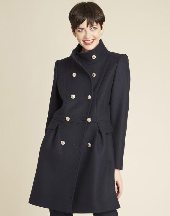 Jasmin double-breasted navy blue coat PhotoZ | 1-2-3