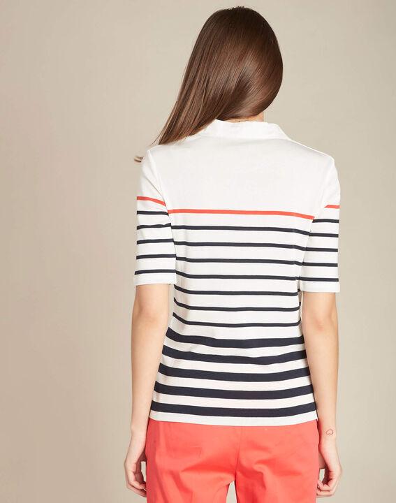 Marineblaues gestreiftes Polo-Shirt Embruns (4) - 1-2-3