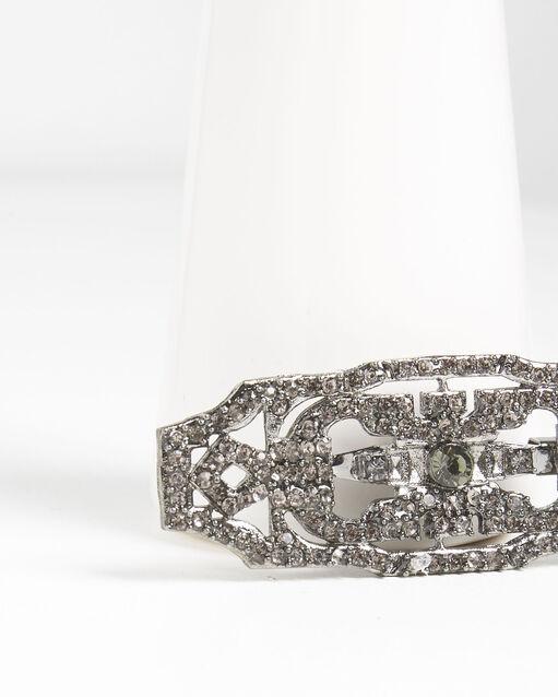 Broche style art déco pierres noires Xavi (1) - 1-2-3