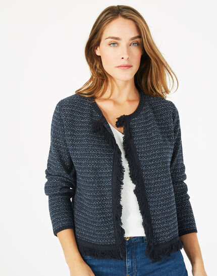 Petronille knit ink blue jacket (3) - 1-2-3
