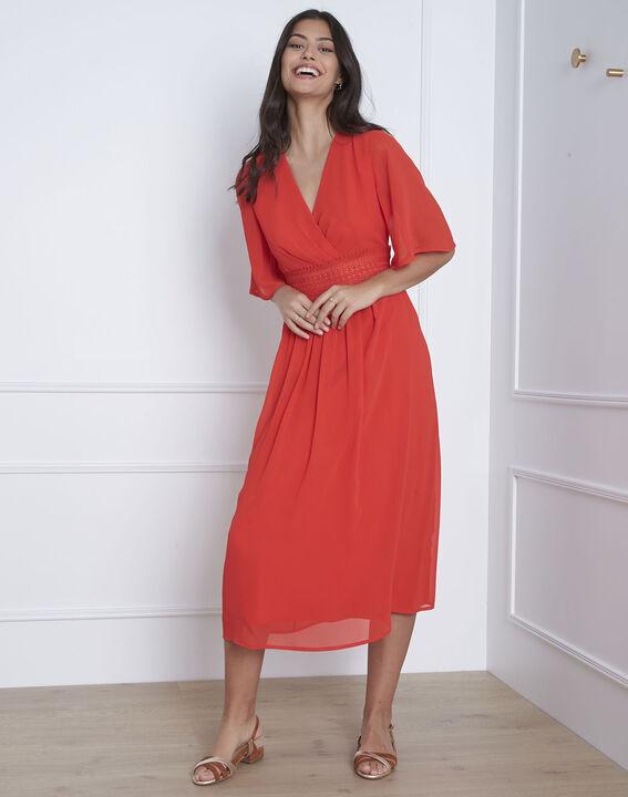 Robe rouge cache-coeur macramé Helene (1) - Maison 123