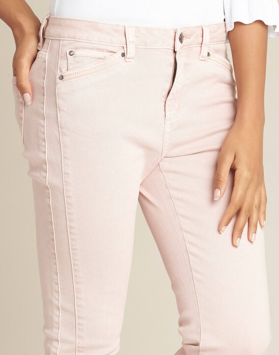 Opera slim-cut pink jeans with ankle zips PhotoZ | 1-2-3