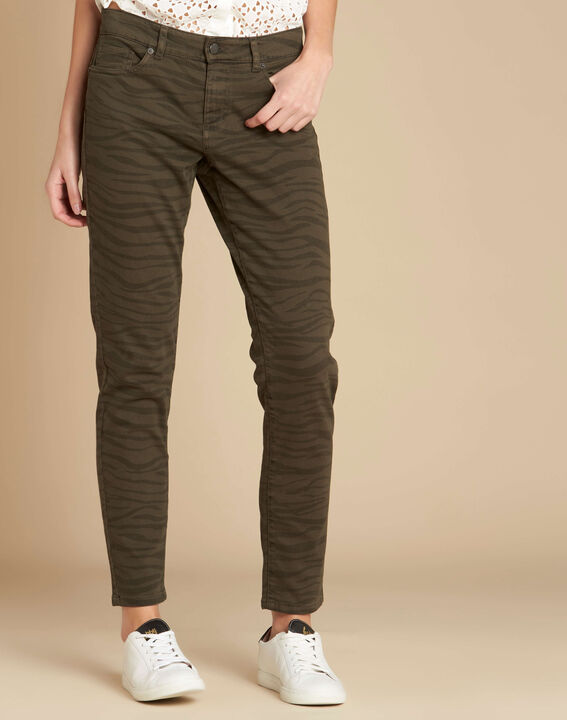 Slim Fit-Jeans mit Zebra-Print Passy (3) - 1-2-3