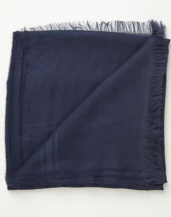 Marineblaues seidenhalstuch mit tupfen adam marineblau.