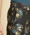 Pantalon marine droit imprimé fleuri Harmonie PhotoZ | 1-2-3