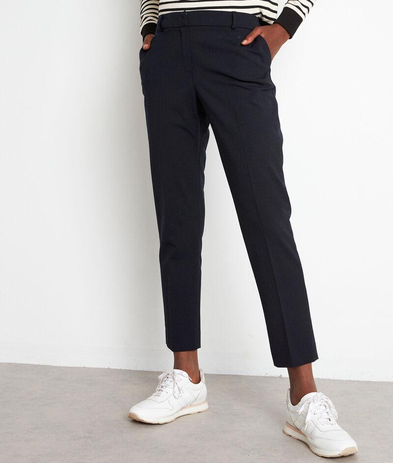 Pantalon de tailleur en laine bleu marine Freddy PhotoZ   1-2-3
