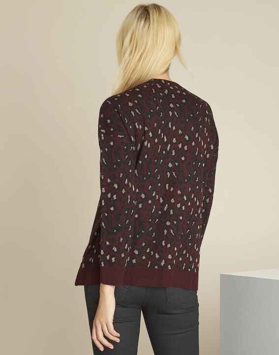 Bestial Bordeaux animal print pullover (4) - 1-2-3