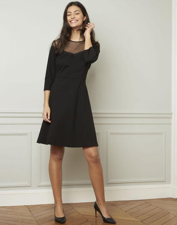 Nadia black tulle and lace dress - Maison Cent Vingt-Trois 83053f7510b