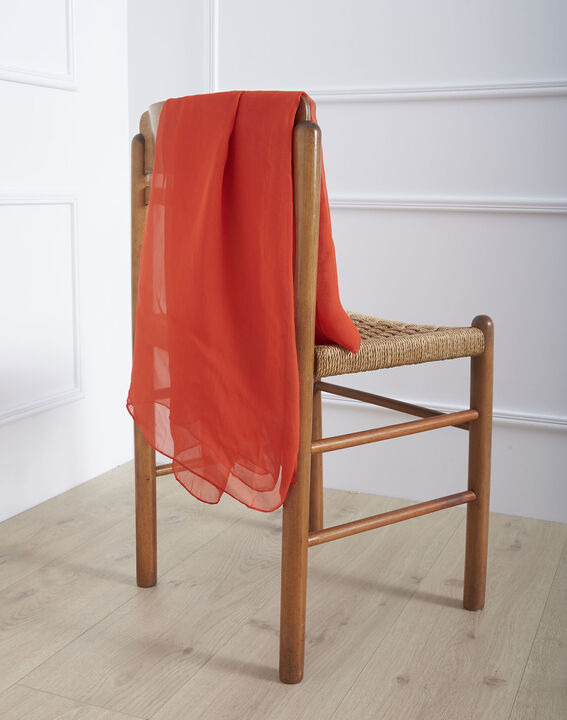 Foulard rouge en soie Alice (1) - Maison 123