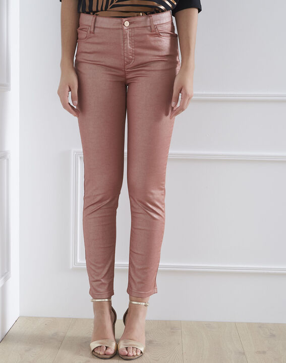 Slim Jeans in glänzendem Rosé Capucine PhotoZ | 1-2-3