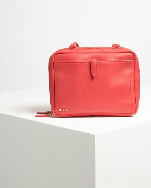 Dolly red shoulder bag with golden zip (2) - 1-2-3