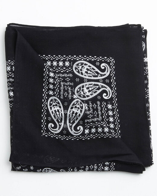Amor bandana print black and white scarf (2) - 1-2-3