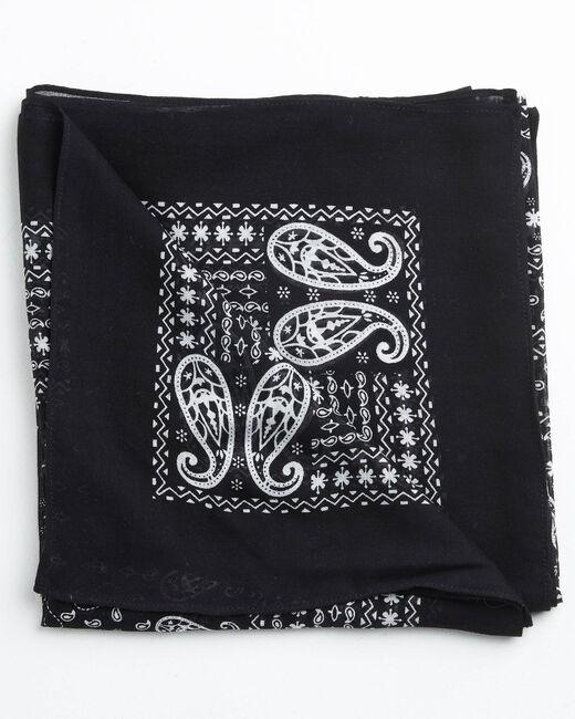 Foulard imprimé bandana noir et blanc Amor (2) - 1-2-3