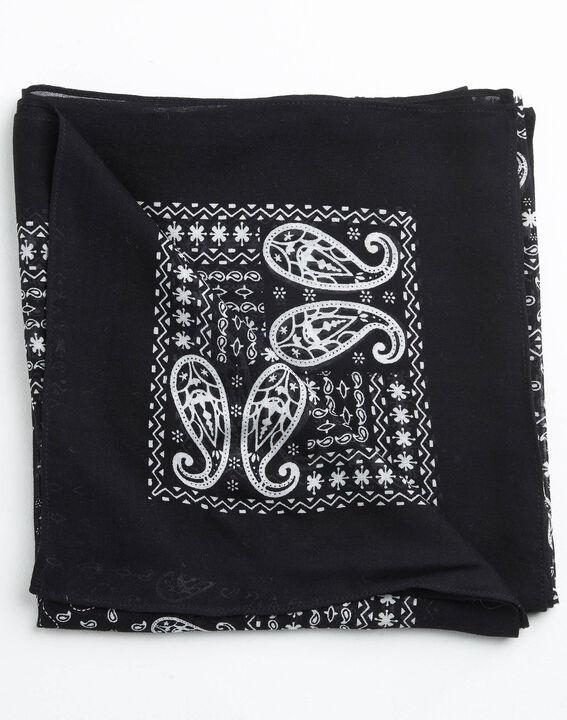 Amor bandana print black and white scarf PhotoZ | 1-2-3