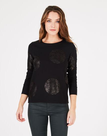 Tee-shirt noir à pois Bonnie (1) - 1-2-3