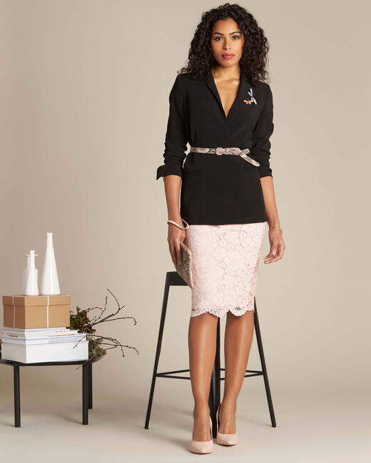 Lantana nude straight-cut skirt in lace (1) - 1-2-3