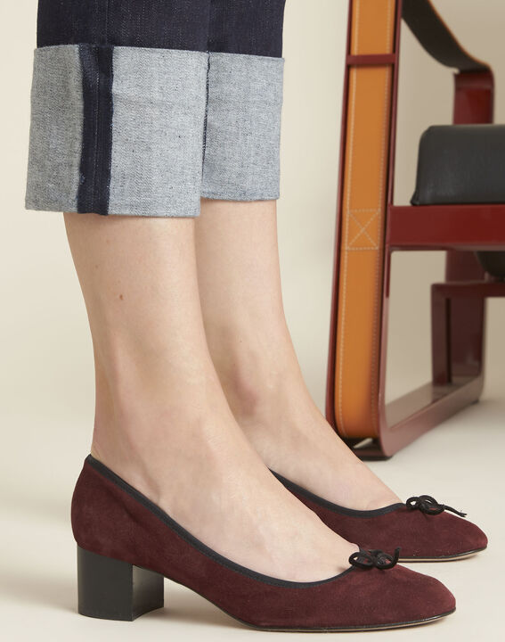 Navy straight-leg cotton-blend jeans (3) - Maison 123
