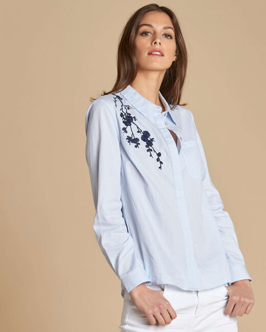 Geborduurde blouse met strepen Delinda (2) - 37653