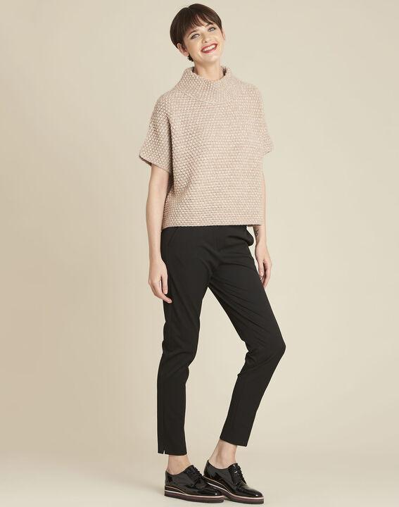Bami beige high collar wool mix pullover (2) - 1-2-3