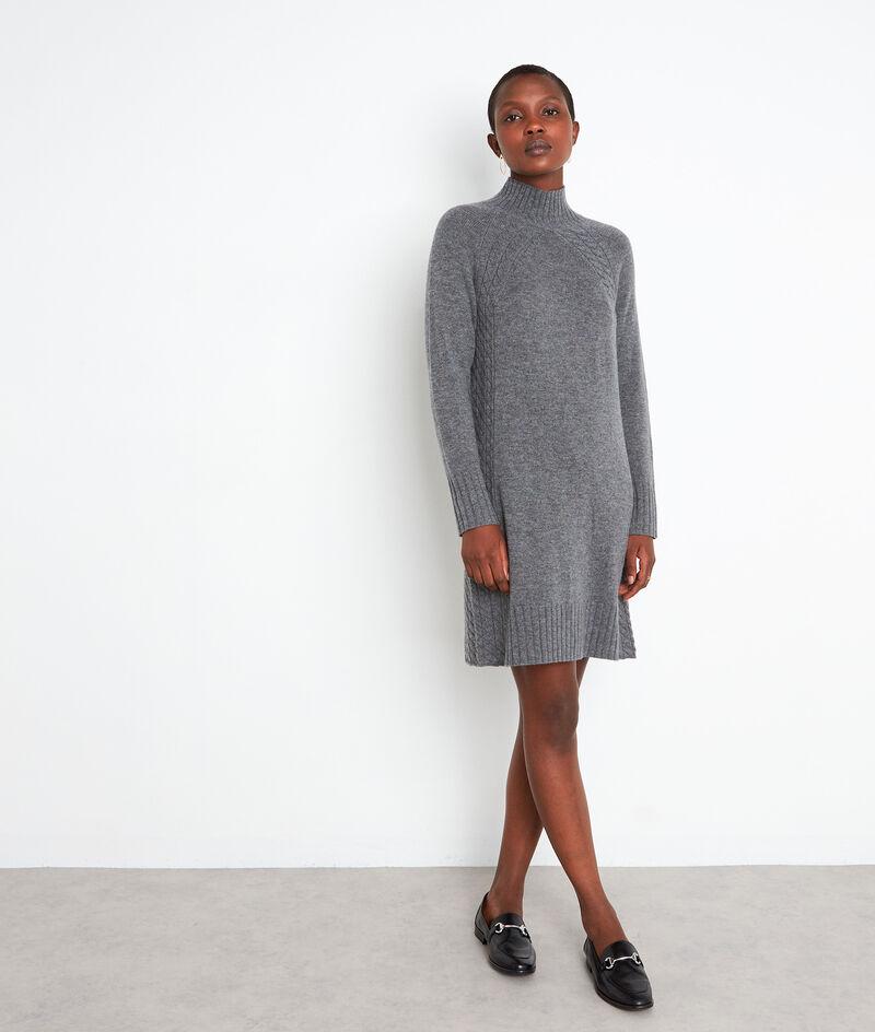 Robe en laine responsable et cachemire grise Sabine PhotoZ | 1-2-3