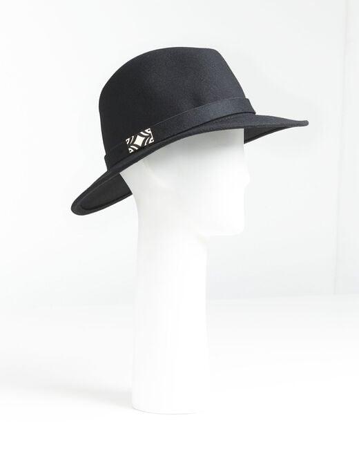 Chapeau noir en laine avec bande Uliette (1) - 1-2-3