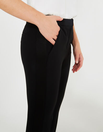 Victorien tailored black trousers with satin strips (1) - 1-2-3