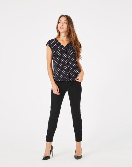 Schwarzes T-Shirt mit Tupfen Betina PhotoZ | 1-2-3