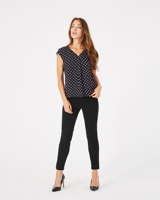 Tee-shirt noir à pois Betina (2) - 1-2-3