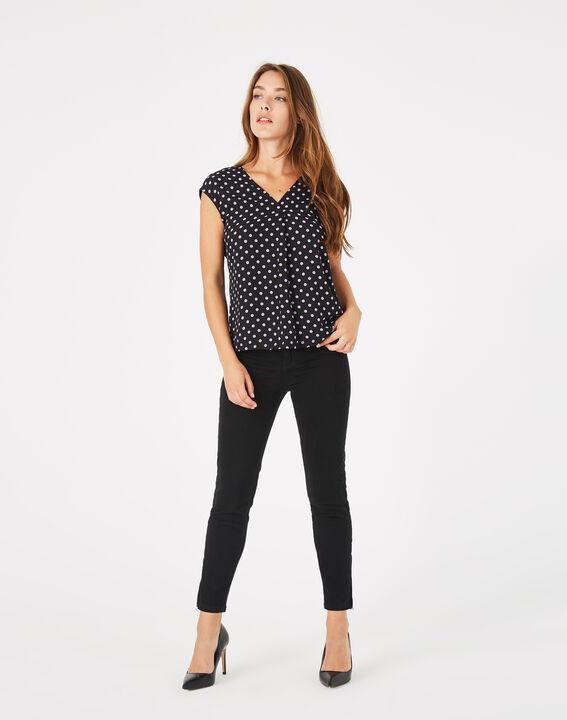 Tee-shirt noir à pois Betina PhotoZ | 1-2-3