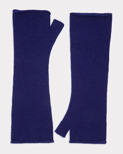 Mitaines bleues en cachemire Trèfle (1) - 1-2-3