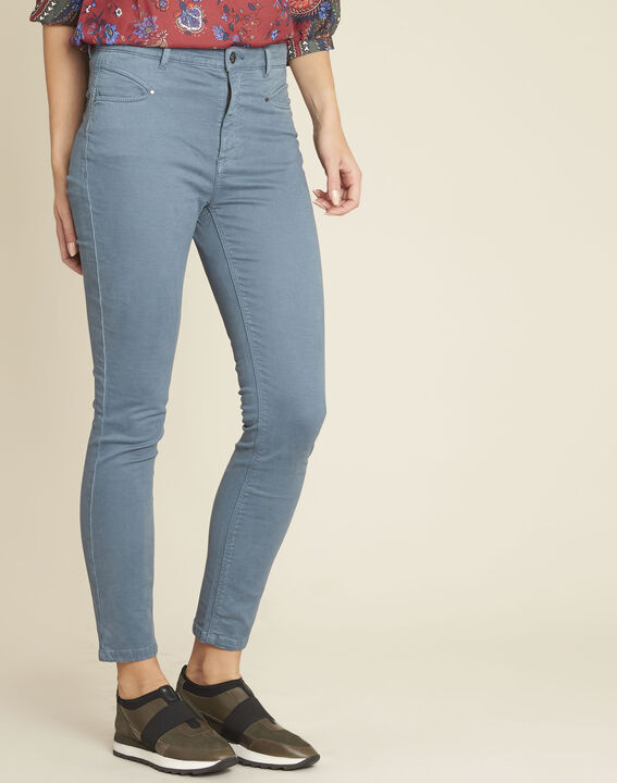 Jean bleu slim taille haute Honore (1) - 1-2-3