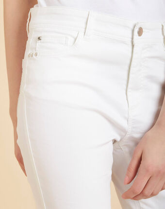 Valley regular fit white slim-cut coated jeans white.