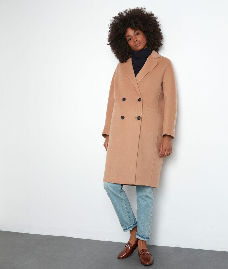 Manteau en laine texturé beige Lina PhotoZ | 1-2-3