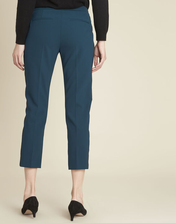 Suzanne dark green trousers with a microfibre sideband (4) - 1-2-3