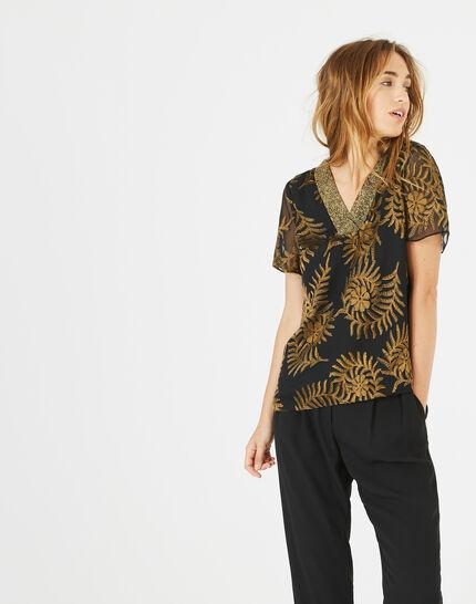 Dorée camel blouse with openwork detailing PhotoZ | 1-2-3