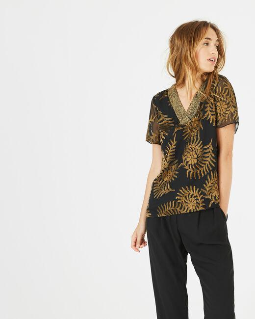 Dorée camel blouse with openwork detailing (1) - 1-2-3