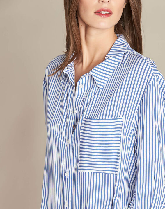 Darwin blue striped shirt PhotoZ | 1-2-3