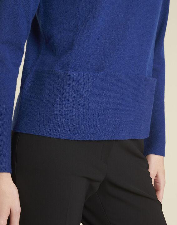 Donkerblauwe trui van kasjmier met zakken Brume (3) - 37653