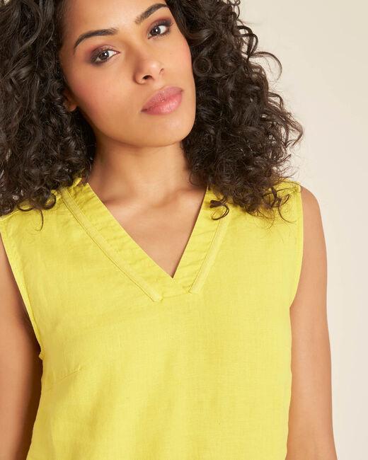 Robe jaune en lin Pim (2) - 1-2-3