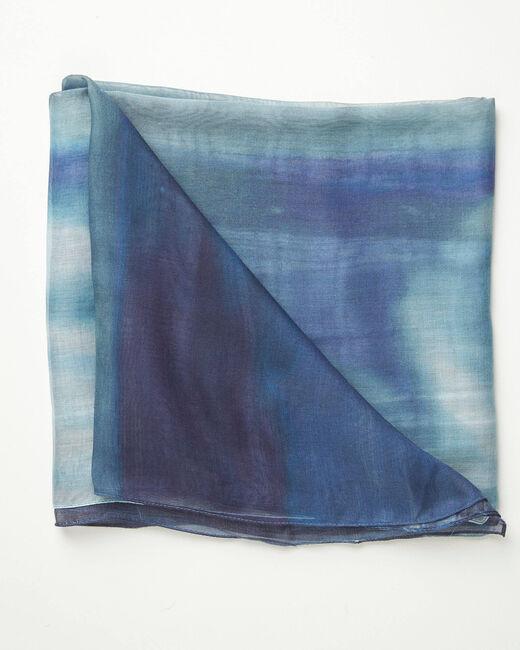 Aloha tie dye effect blue scarf (1) - 1-2-3