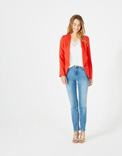 Rote Jacke mit Reverskragen Maite (1) - 1-2-3