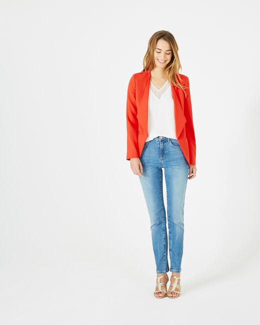 Veste rouge col tailleur Maite (1) - 1-2-3