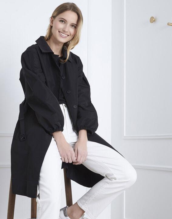 Schwarzer Trenchcoat mit Gürtel Daniela (1) - Maison 123