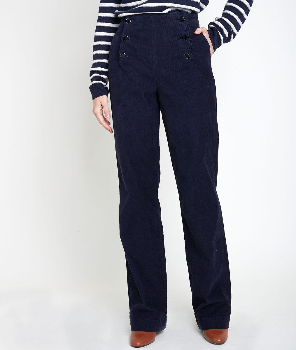 Pantalon à pont en velours Hubert PhotoZ | 1-2-3