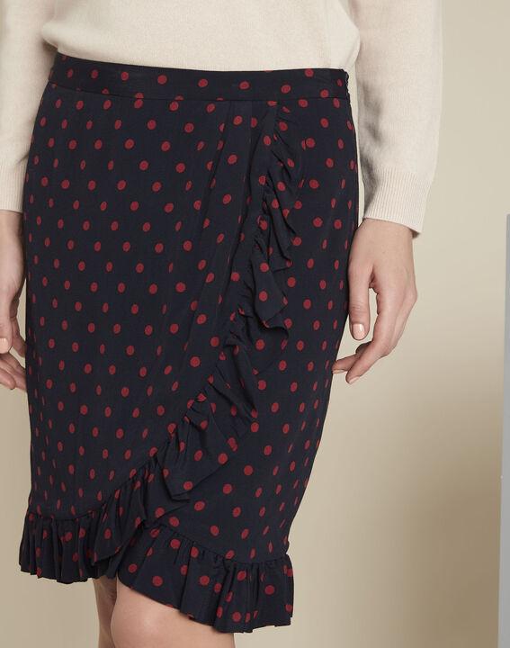 Anis navy polka dot ruffle skirt (3) - 1-2-3