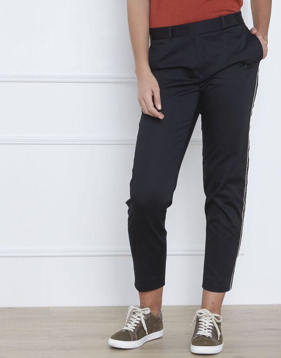 Pantalon noir bande imprimé serpent Rubis (1) - Maison 123